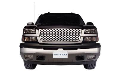 Putco - Chevrolet Silverado Putco Loud Mouth Style Grille with Chrome Mesh - 99165