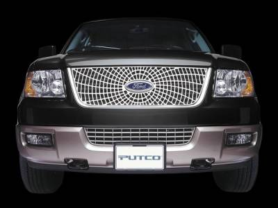 Putco - Ford Excursion Putco Liquid Spider Web Grille - 303121