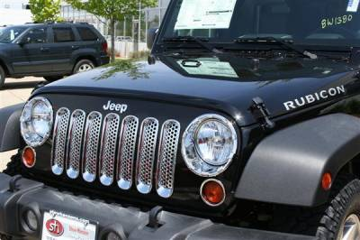 Putco - Jeep Wrangler Putco Chrome Trim Grille Covers - 400523