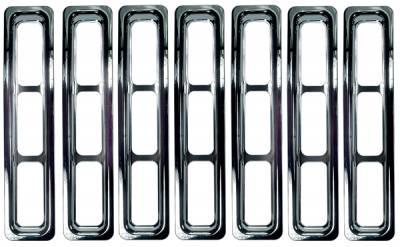Omix - Rugged Ridge Grille Inserts - Chrome Trim - 11306-02