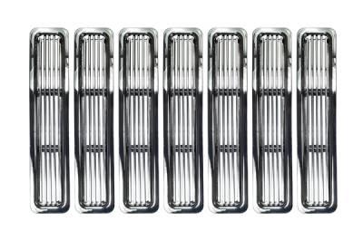 Omix - Rugged Ridge Billet Grille Inserts - Chrome Trim - 11401-02