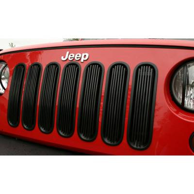 Omix - Rugged Ridge Billet Grille Inserts - Black Trim - 11401-3