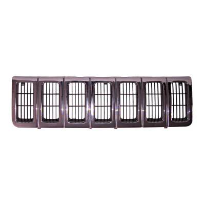 Omix - Omix Grille - Chrome Dark & Argent - 12037-14