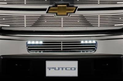Putco - Chevrolet Silverado Putco Radiator Grille Inserts - 280506RL