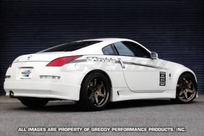 Greddy - Nissan 350Z Greddy Gracer Aero-Style Rear Under Spoiler - Fiber Reinforced Plastic - 17020241