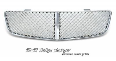 OptionRacing - Dodge Charger Option Racing Diamond Mesh Sport Grille - 64-17127
