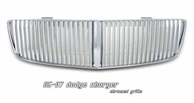 OptionRacing - Dodge Charger Option Racing Vertical Sport Grille - 64-17129