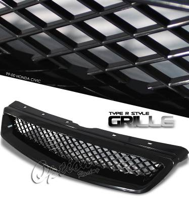 OptionRacing - Honda Civic Option Racing Type-R Sport Grille - 64-20182