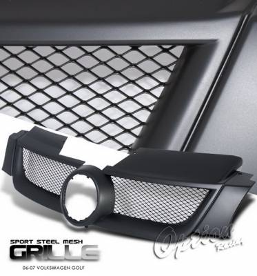 OptionRacing - Volkswagen Golf Option Racing Black Grille - Steel Mesh Style - 64-45198
