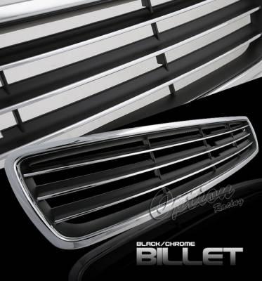 OptionRacing - Audi A4 Option Racing Chrome Grille - Chrome - 1PC - 65-11390