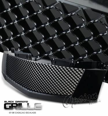 OptionRacing - Cadillac Escalade Option Racing Black Grille - Diamond Style - Black - 65-14260