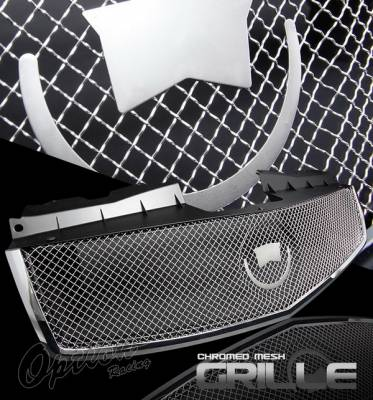 OptionRacing - Cadillac CTS Option Racing Mesh Grille - Chrome - 65-14283