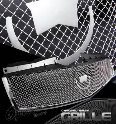 OptionRacing - Cadillac CTS Option Racing Mesh Grille - Chrome - 65-14283