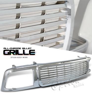 OptionRacing - Chevrolet Blazer Option Racing Billet Grille - 65-15106
