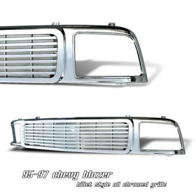 OptionRacing - Chevrolet Blazer Option Racing Billet Grille - 65-15107