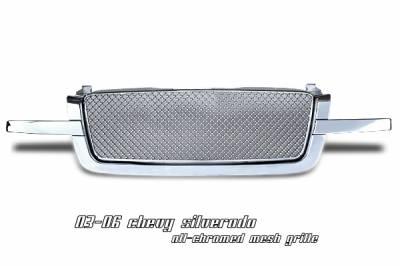 OptionRacing - Chevrolet Silverado Option Racing Diamond Grille - 65-15120