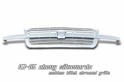 OptionRacing - Chevrolet Silverado Option Racing Emblem Billet Grille - 65-15121