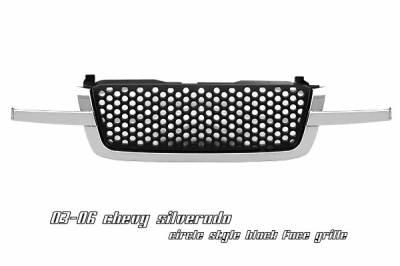 OptionRacing - Chevrolet Silverado Option Racing Round Hole Grille - 65-15123