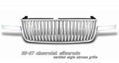 OptionRacing - Chevrolet Silverado Option Racing Vertical Grille - 65-15128