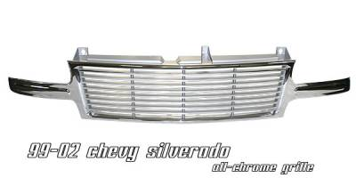 OptionRacing - Chevrolet Silverado Option Racing Billet Grille - 65-15130