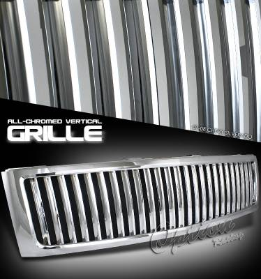 OptionRacing - Chevrolet Silverado Option Racing Vertical Grille - 65-15238