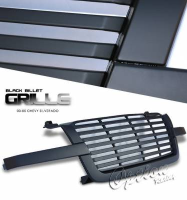 OptionRacing - Chevrolet Silverado Option Racing Chrome Grille - Billet Style - Chrome - 1PC - 65-15249