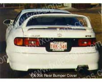FX Designs - Toyota Celica FX Design Rear Bumper - FX-304R