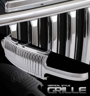 OptionRacing - Chevrolet Silverado Option Racing Chrome Grille - Vertical Style - 65-15300