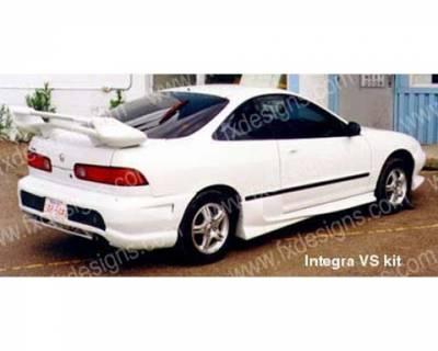 FX Designs - Acura Integra FX Design VS Style Rear Bumper Cover - FX-516