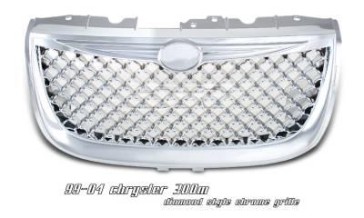 OptionRacing - Chrysler 300 Option Racing Diamond Grille - 65-16141