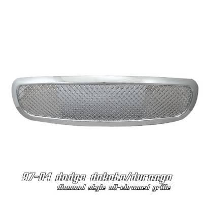 OptionRacing - Dodge Dakota Option Racing Diamond Grille - 65-17148
