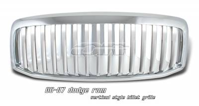 OptionRacing - Dodge Ram Option Racing Vertical Grille - 65-17155
