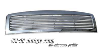 OptionRacing - Dodge Ram Option Racing Billet Grille - 65-17157