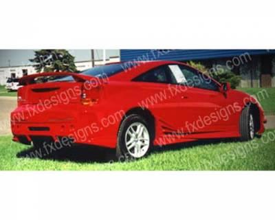 FX Designs - Toyota Celica FX Design Xtreme Style Rear Bumper - FX-971