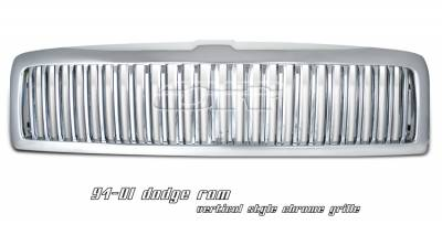 OptionRacing - Dodge Ram Option Racing Vertical Grille - 65-17159