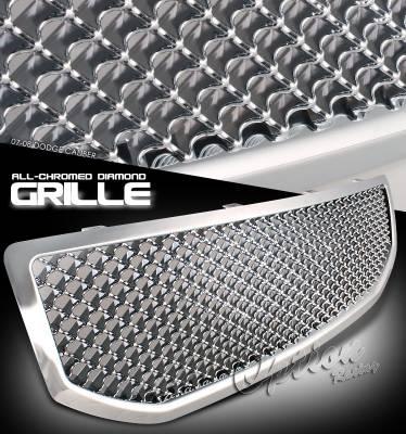 OptionRacing - Dodge Caliber Option Racing Diamond Grille - 65-17239