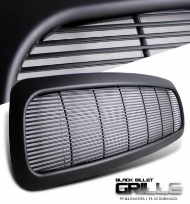 OptionRacing - Dodge Dakota Option Racing Grille - Billet Style - Black - 1PC - 65-17246
