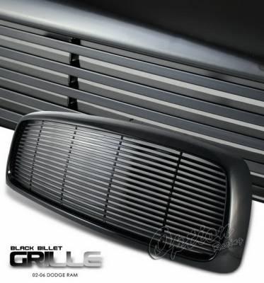 OptionRacing - Dodge Ram Option Racing Black Grille - Billet Style - Black - 65-17268