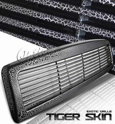 OptionRacing - Dodge Ram Option Racing Exotic Leopard Grille - Special Painted - Horizontal Style - Special S02 - 65-17359