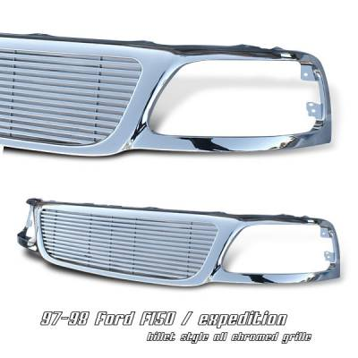 OptionRacing - Ford Expedition Option Racing Billet Grille - 65-18170
