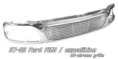 OptionRacing - Ford F150 Option Racing Billet Grille - 65-18171