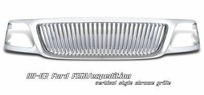 OptionRacing - Ford F150 Option Racing Vertical Grille - 65-18174