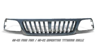 OptionRacing - Ford F150 Option Racing Titanium Grille - 65-18176