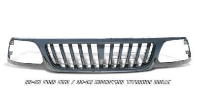 OptionRacing - Ford F150 Option Racing Titanium Grille - 65-18176