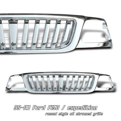 OptionRacing - Ford F150 Option Racing Vertical Grille - 65-18178