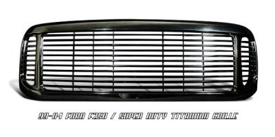 OptionRacing - Ford Superduty Option Racing Titanium Grille - 65-18184