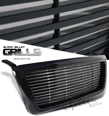 OptionRacing - Ford F150 Option Racing Level Grille - 65-18241