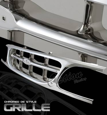OptionRacing - Ford Explorer Option Racing Chrome Grille - OEM Style - 65-18335