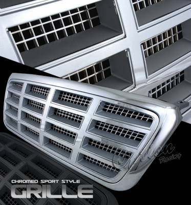 OptionRacing - Ford F150 Option Racing Chrome Grille - Diamond Style - Chrome - 1PC - 65-18349
