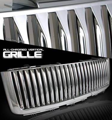 OptionRacing - GMC Sierra Option Racing Vertical Grille - 65-19237